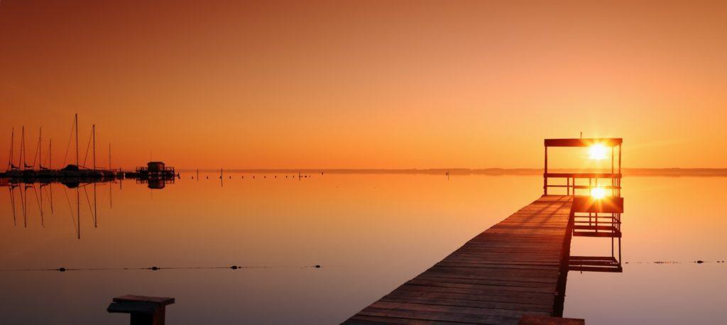 Biscarrosse coucher de soleil